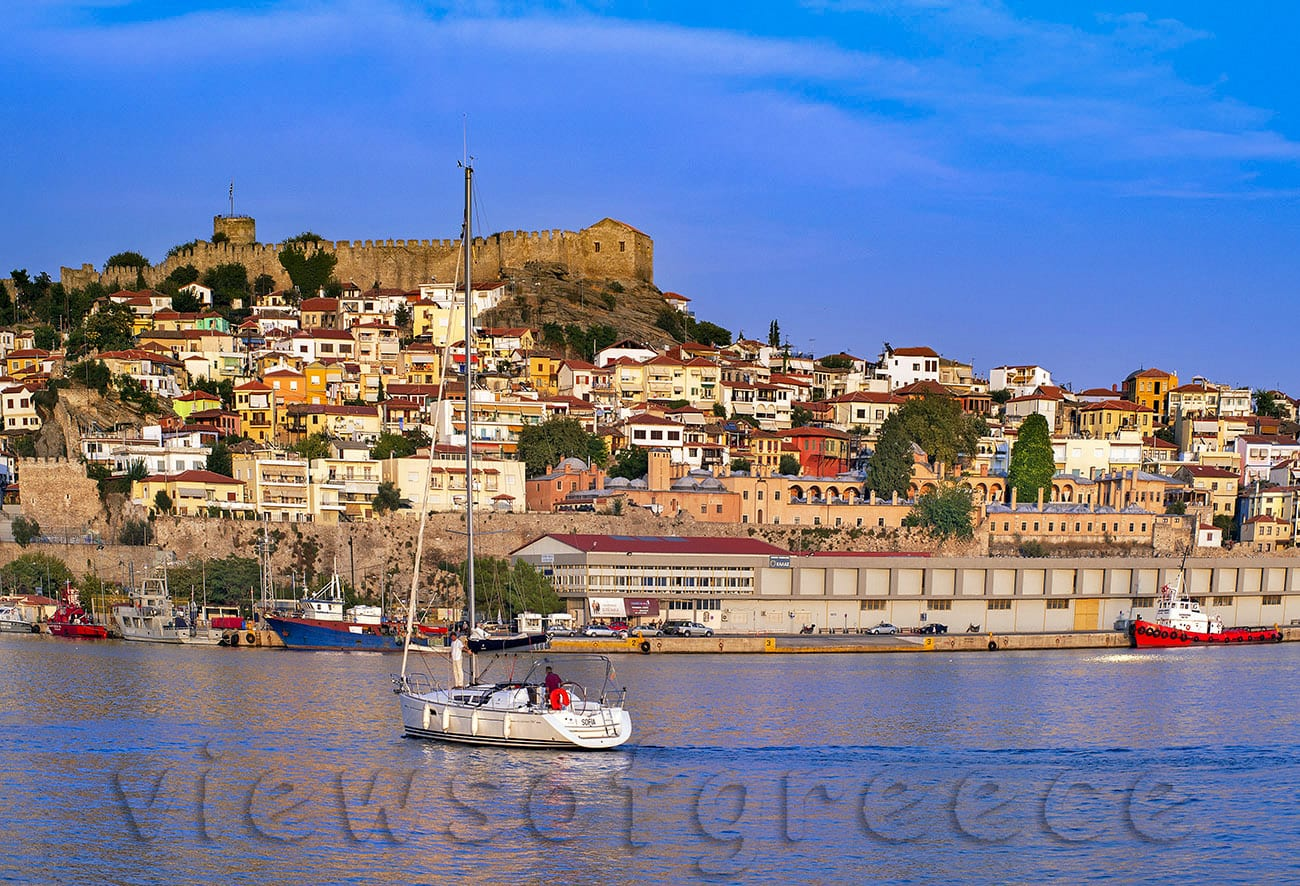 Kavala archeology, byzantine, castle, city, fishing, fortress, Greece, harbor, tabacco, East Macedonia, North Greece, old town,