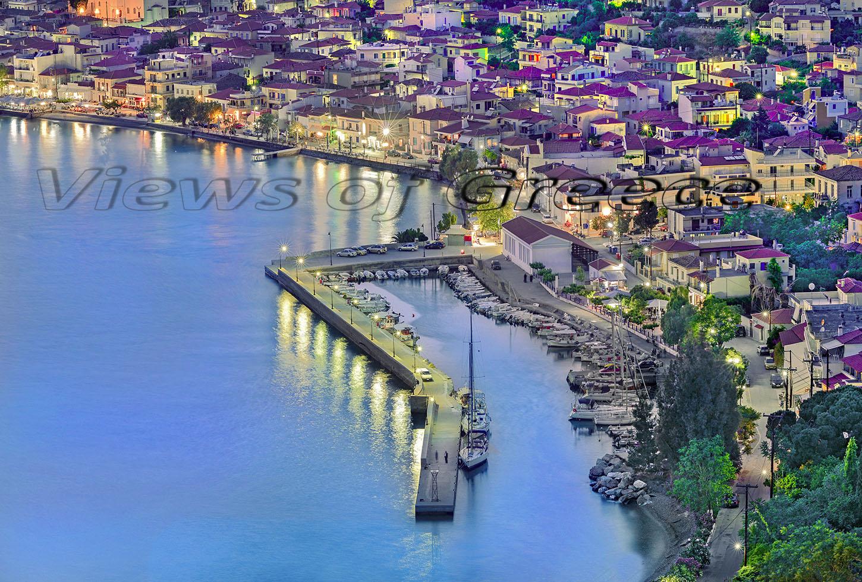 Evia, Limni town, architecture, bay, city, coast, culture, Greece, harbor, historic, traditional village,