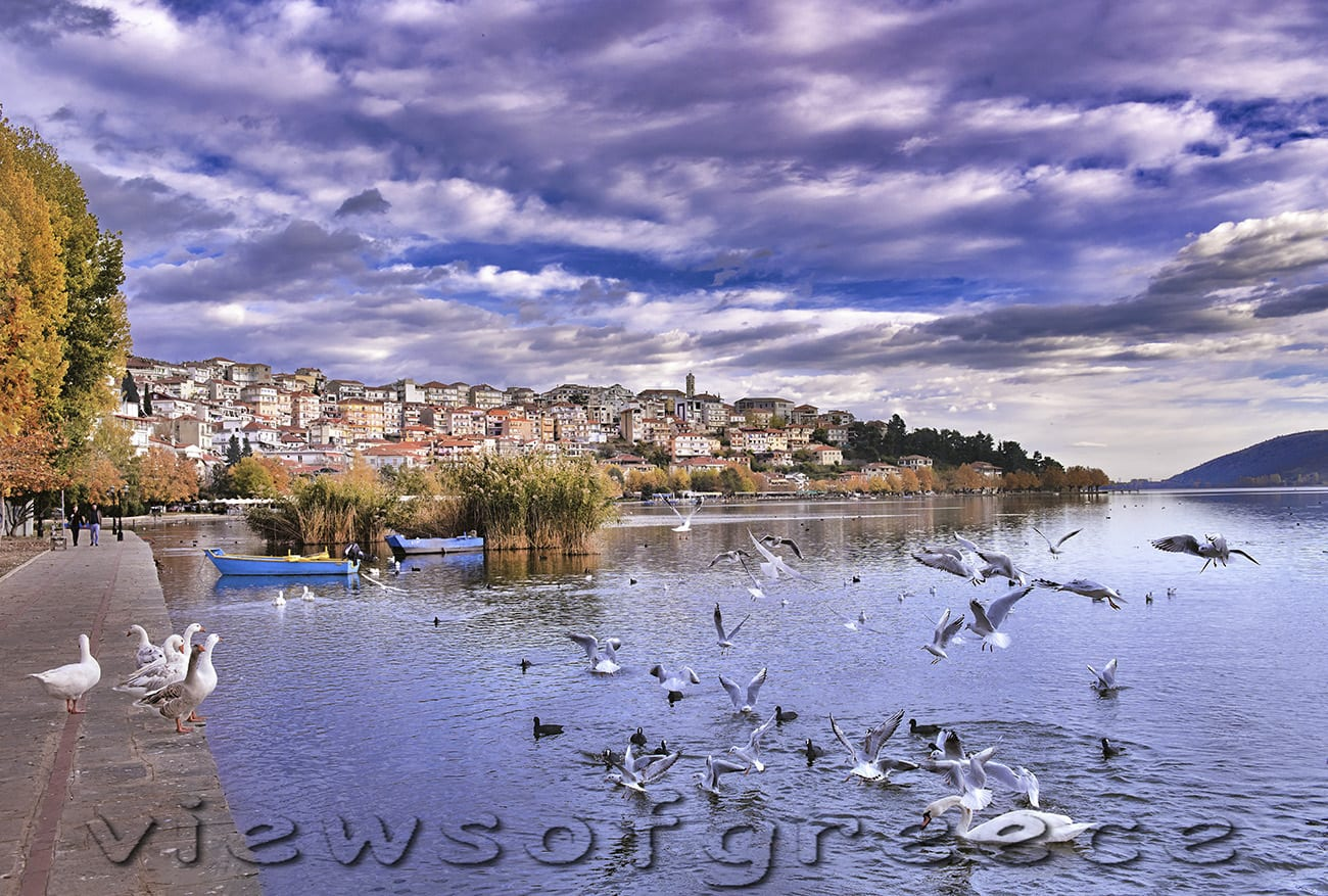kastoria, greece, lake, town, macedonia, city, architecture, nature, greek, colorful, reflection, traditional, panoramic, lake orestiada, byzantine, orthodox, Καστοριά, Φθινόπωρο, Δισπηλιό, λίμνη Ορεστιάδα