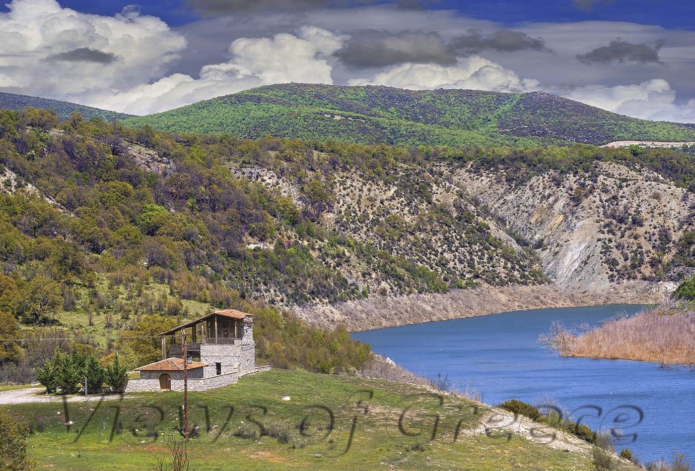 greece, nature, river, mountain, travel, aliakmonas, lake, aliakmonas river, Macedonia ποταμός Αλιάκμονας, λίμνη Ιλαρίωνα, μονή Ζάβορδας σκήτη όσιου Νικάνωρα, Δεσκάτη, ΔΕΗ, φράγμα, πανόραμα, νομός Γρεβενών, δυτική Μακεδονία