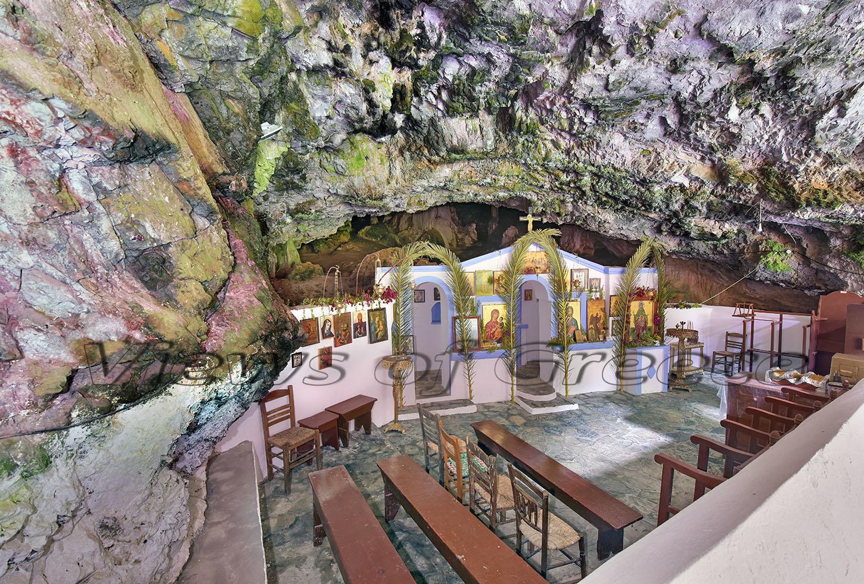 Kythira Κύθηρα. Το σπήλαιο της Αγίας Σοφίας στον Κάλαμο