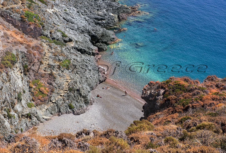Kythira Κύθηρα. Η παραλία Σπαραγγιό