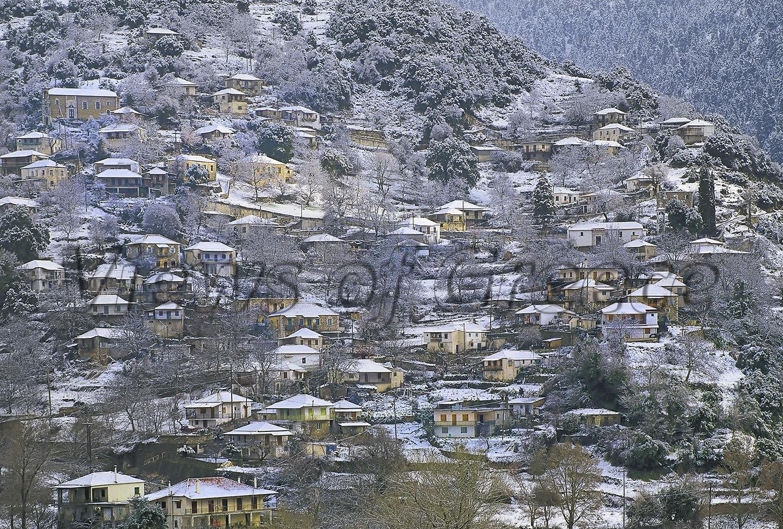 ΟΡΕΙΝΗ-ΗΛΕΙΑ.-Η-Δίβρη-χιονισμένη.
